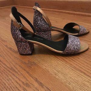 Free People Marigold Glitter Block Heel